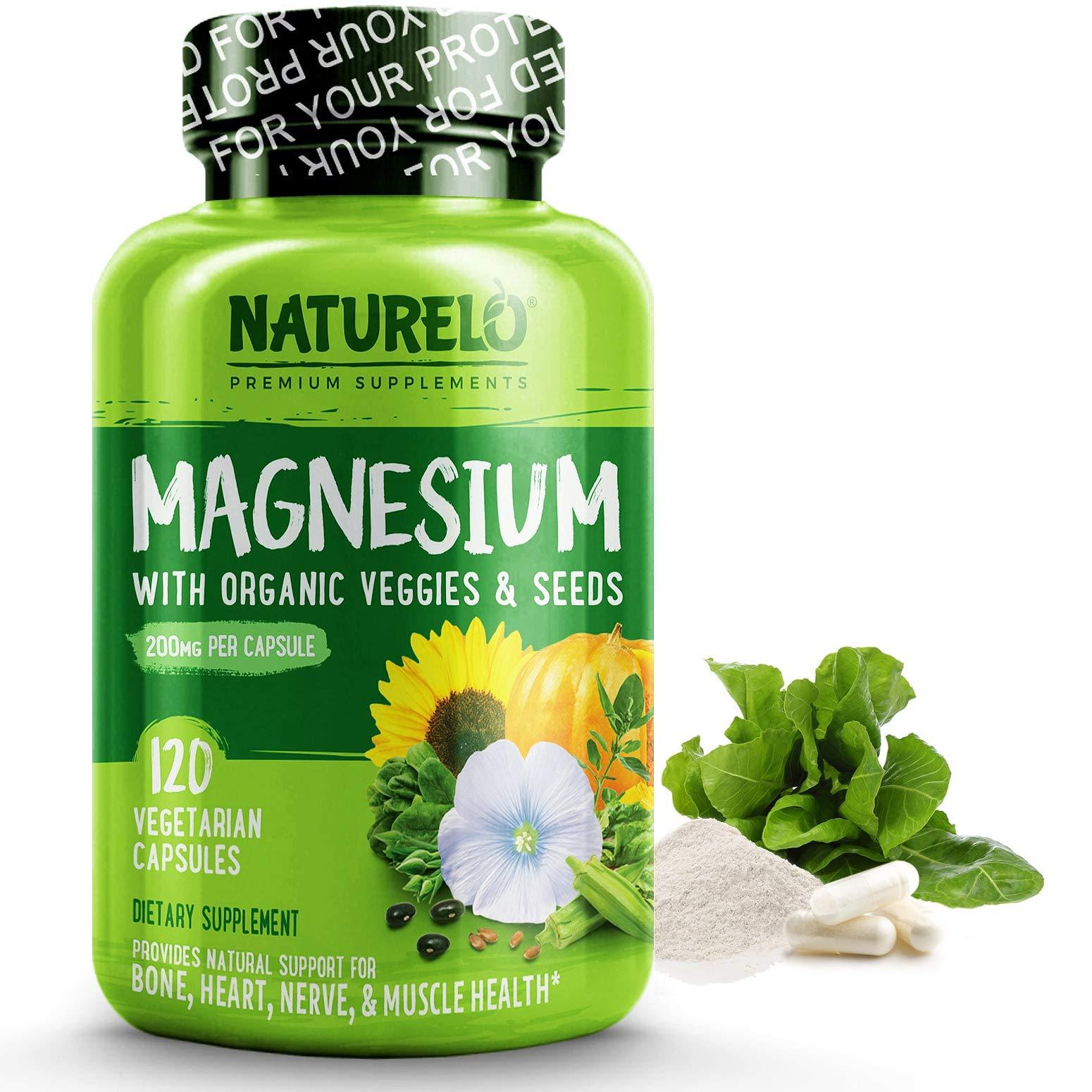NATURELO Magnesium Glycinate Supplement Vegetables