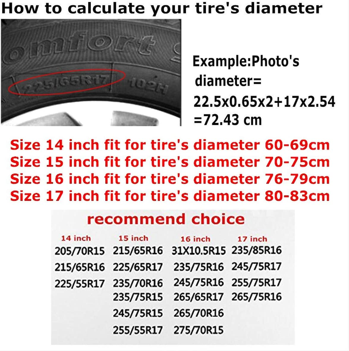 Deaowangluo Spare Tire Cover Happy Camper Trailer Truck Rv SUV Covers Travel Universal 15 Inch