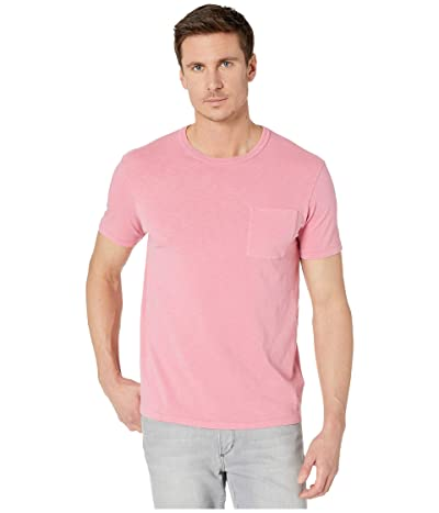 J.Crew Garment-Dyed Slub Cotton Crewneck T-Shirt (Flamingo) Men