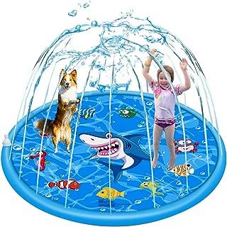 HARDER Sprinkler for Kids Outdoor Summer Fun Water Park Toys, Splash Pad Squirt Pool for Babies Backyard Sprinkler Base Plate, Garden Water Sprinkler Jet Inflatable Mat Toy for Kids, 60 Inch