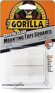 Gorilla 3044110 montagetape vierkanten, kristalhelder, Pack - 1
