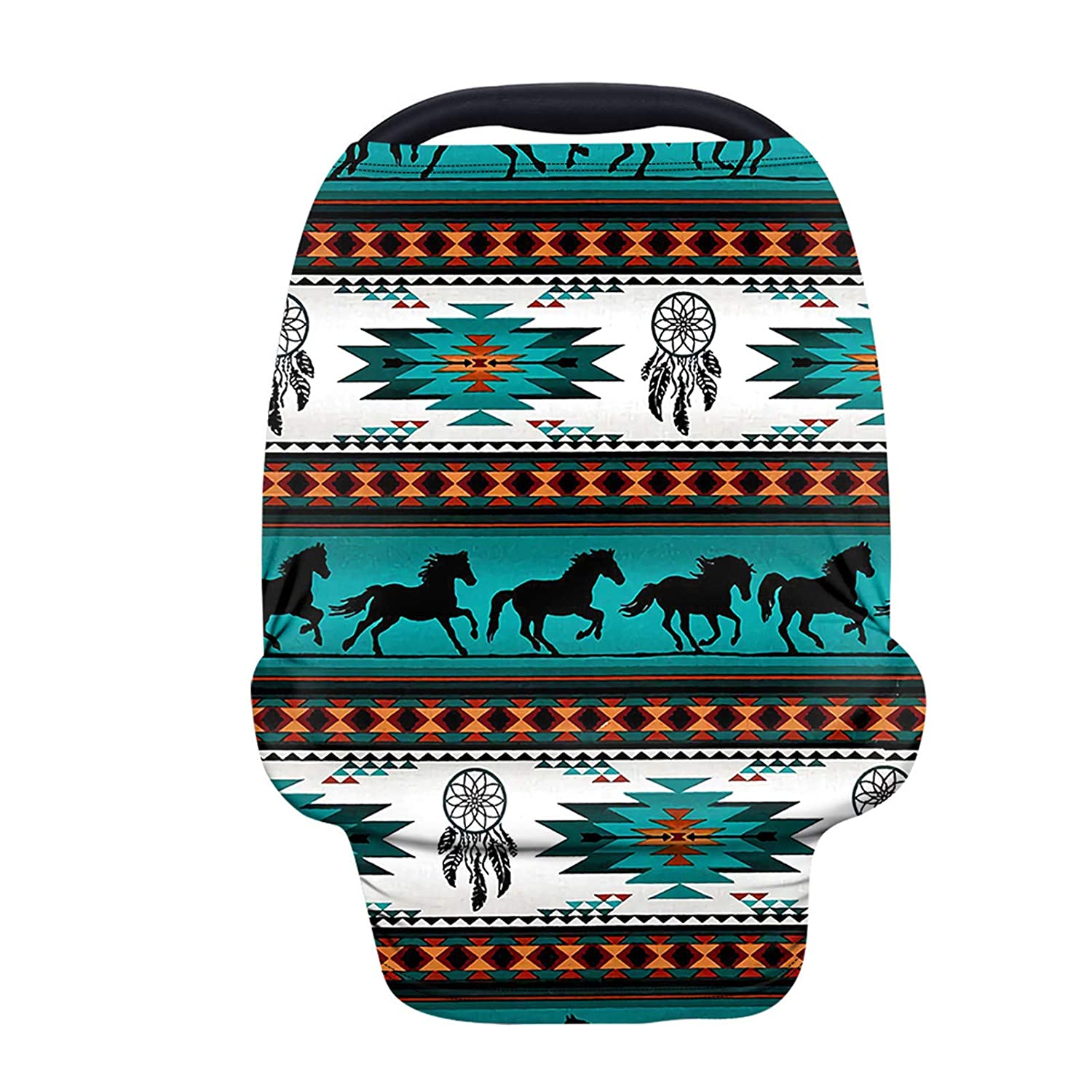 JOAIFO Aztec American Native Horse Cover and Print Cheap sale Blue Max 83% OFF Nursing