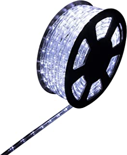 Ainfox LED Rope Light, 100Ft 1080 LEDs Indoor Outdoor Waterproof LED Strip Lights Decorative Lighting (Cool White)