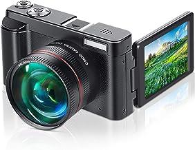 Lecran Digital Video Camera, YouTube Vlogging Camera 1080P 24MP Video Camcorder, Video Camera with 16X Digital Zoom Pause ...