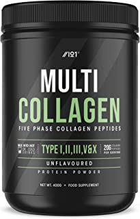 Multi Collagen Protein Powder - 5 Types of Food Sourced Collagen Peptides - Hydrolysed Grass Fed Bovine, Wild Caught Marin...