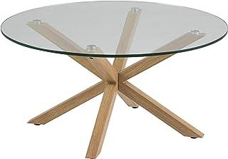 Amazon Brand - Movian Zala - Mesa de centro 82 x 82 x 40 cm (largo x ancho x alto) marrón