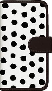 CaseMarket 手帳型 ケース レザー 厚手タイプ au AQUOS R5G (SHG01) 北欧 モダン ウォレット モノトーン パッロ 2103 White