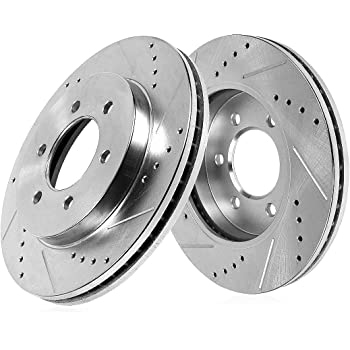 Power Stop JBR931XPR Front Evolution Drilled /& Slotted Rotor Pair
