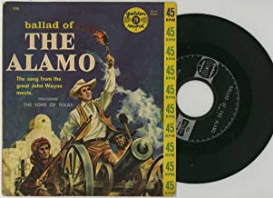 Ballad of the Alamo - The Song From the great John Wayne Movie featuring the Sons of Texas- 45 rpm Golden Record #636