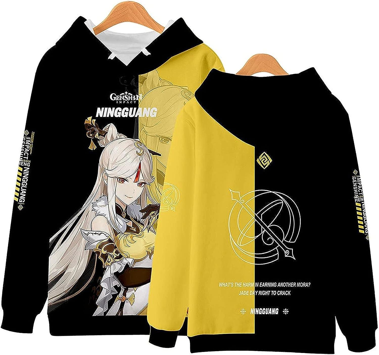 Genshin-Impact Hoodie Sweatshirt Game Anime zhongli ganyu keqing Fashion Harajuku Streetwear Adult Teen