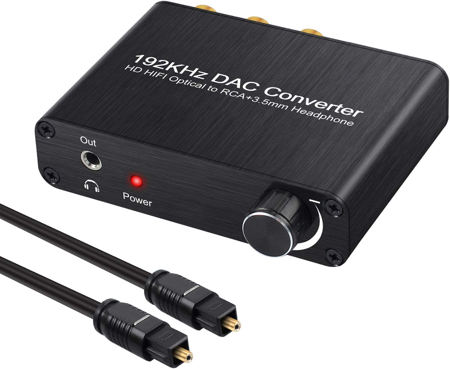 Neoteck 192kHz Digital to Analog Audio Converter Compatible with Dolby DTS/AC-3 5.1CH, Digital SPDIF Coaxial Toslink to Analog Stereo RCA L/R + 3.5mm Jack Audio Converter