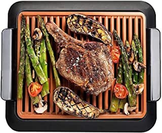 Electric Grill Smokeless Indoor BBQ, 1200W Grill With Removable Nonstic Cooking Surfaces, Adjustable Thermostat, 14X11 In ...