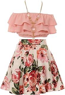 Amazon.com: Girls' Skirt Sets - Little Girls (2-6x) / Skirt Sets / Clothing  Sets: Clothing, Shoes & Jewelry