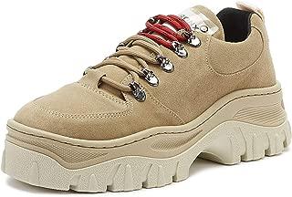 Bronx Jaxstar Womens Cappuccino Tan Platform Hiker Trainers