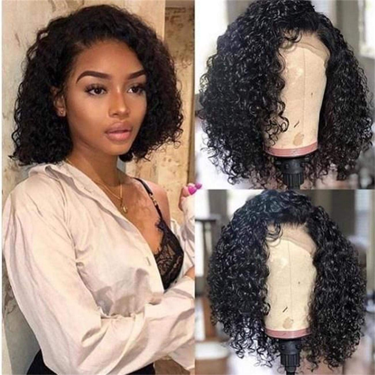 Deep Curly Bob Synthetic Lace Front Wigs Glueless Fiber Hair Heat Resistant Looks Nutural Wavy With Baby Hair For Women 14inch Buy Online In Bahamas Missing Category Value Products In
