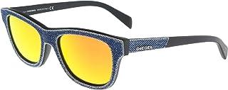 1500ebb79a7ae8 Diesel Occhiali da sole Wayfarer Denim Denim blu specchio DL0111S 86C 52