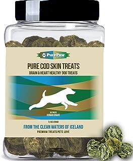 Best Paw Nutrition Organic Raised Wild Fish Treats Icelandic Pure Cod Skins or Lobster & Kelp Reward Protein Snacks Rich in EPA & DHA K9 Brain Heart Skin & Coat Health