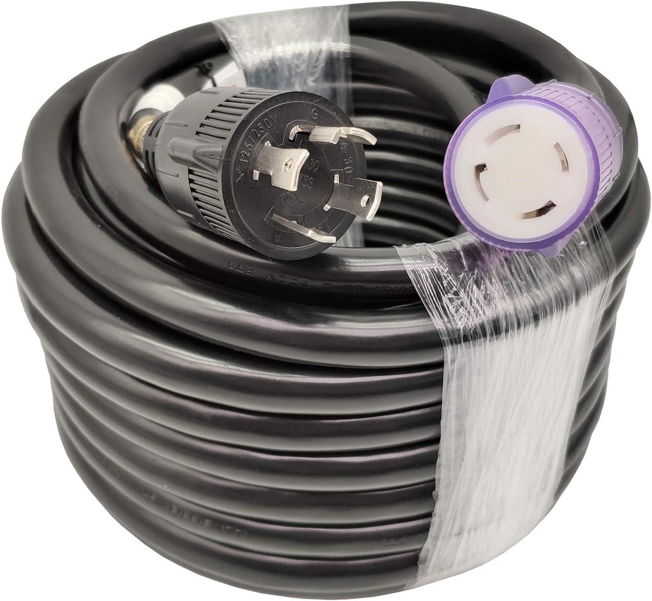 Columbus Mall Parkworld UL Listed 30amp 4 Max 78% OFF Extension NEMA Cord Prong Generator