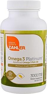 Zahler Omega 3 Platinum, Advanced Omega 3 Fish Oil, 2,000 mg, 90 Softgels