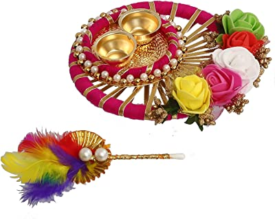eCraftIndia Handcrafted Decorative Roli Tikka Holder with Designer Stick