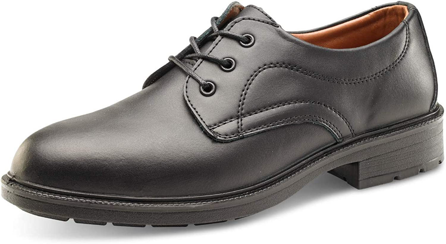 PDL Safety Footwear Black Managers Formal shoes Sizes 6-12 HGSW2010BS