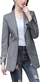 Women's Blazer Jacket Corduroy Sport Coat Smart Formal Dinner Cotton Jacket Slim Fit Two Button Notch Lapel Coat