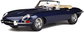 Jaguar E Type Roadster RHD (Right Hand Drive) Dark Blue Limited Edition to 500 Pieces Worldwide 1/12 Model Car by GT Spirit GT219