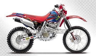 Kungfu Graphics Custom Decal Kit for Honda 1998 1999 2000 2001 2002 2003 2004 XR 250 XR 400, Red White Blue, Style 003