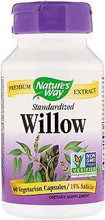 Nature's Way, Willow, Standardized, 60 Vegetarian Capsules