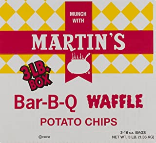 Martin's B-B-Q Waffle Potato Chips (3 LB Box)