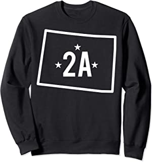 Colorado Second Amendment State 2A Gun Owner Rights Design Sweatshirt