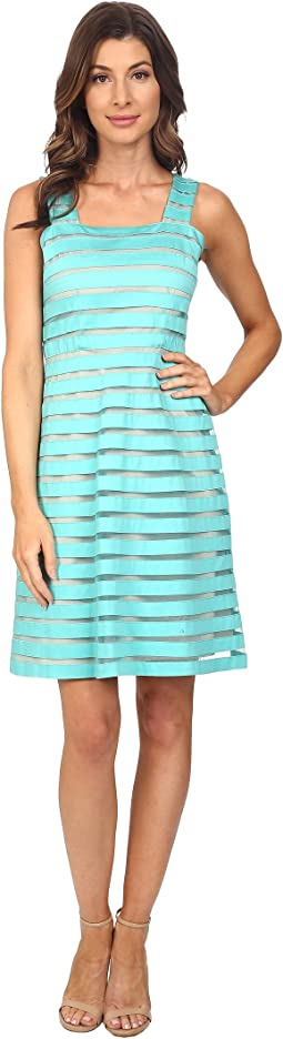 Illusion Banded Fit & Flare Dress