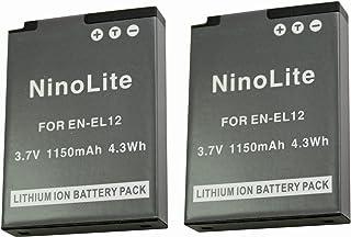 NinoLite EN-EL12 互換 バッテリー 2個セット ニコン COOLPIX A900 S9900 P9700 P9500 等対応 enel12x2_t.k.gai