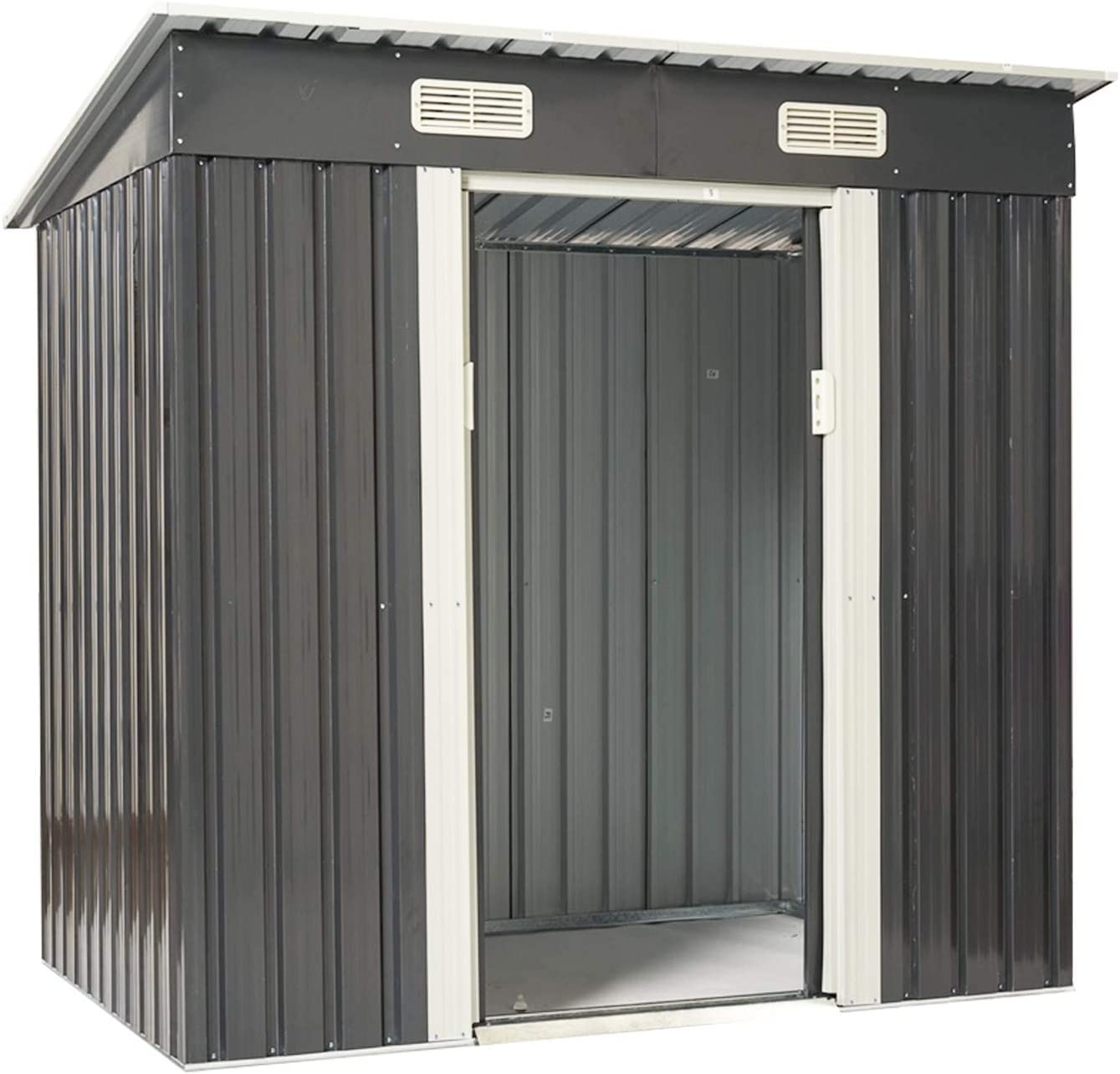 Patiomore 4X6 FT Outdoor Max 59% OFF Garden Tool Storage Shed Atlanta Mall Yard S