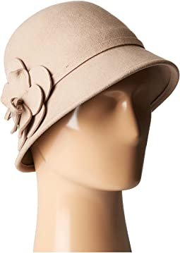 San Diego Hat Company - WFH8035 Cloche with Matching Wool Flower