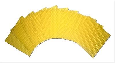 wangza Bienenwachsplatten f/ür Kerzen Imker Aufzuchtwerkzeug Langlebiges Nest mit Hohem Gehalt Foundation Beehive Sheet