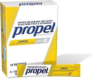 Propel Powder Packets Lemon With Electrolytes, Vitamins and No Sugar 10 Packets