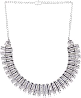 Priyaasi Designer Silver-Plated Necklace For Women and Girls
