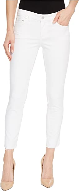 Lolita Crop Cut Hem Jeans in Clean White