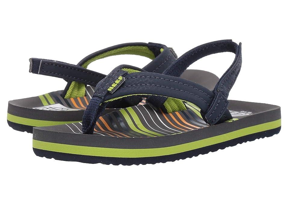 Reef Kids Ahi (Infant/Toddler/Little Kid/Big Kid) (Stripe Green) Boys Shoes