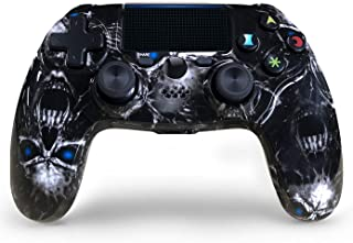 PS4コントローラーワイヤレススカルスタイルデュアルショックゲーミングゲームパッドタッチパッド付きプレイステーション4 / PS4 Pro/Slim/PC用の高精度コントローラー