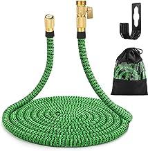 "Gobetter Garden Hose, 100 ft Expandable Water Hose with 3/4"" Standard Solid Brass Connectors, Pocket Hose Lightweight/Flex..."