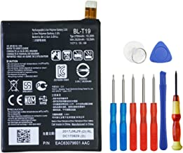 Wee Replacement Battery for Google Nexus 5X H791 H790 H798, BL-T19 3.8V 2700mAh 10.3Wh Li-Polymer with Free Repair Tool Kit for Google Nexus 5X