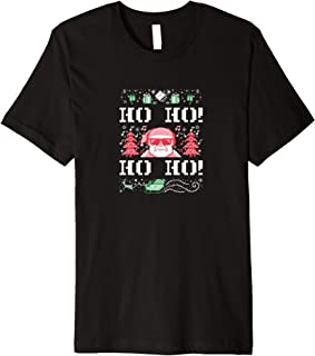 ROCKSTAR Funny Christmas Party - Santa Claus - Ho Ho - Ugly Premium T-Shirt
