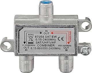 Wentronic SAT EW - Splitter/Combinador de cables (Acero inoxidable)