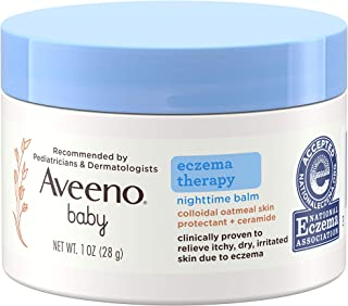 Aveeno Baby Eczema Therapy Nighttime Moisturizing Balm, Colloidal Oatmeal & Ceramide, Soothes & Relieves Dry, Itchy Skin f...