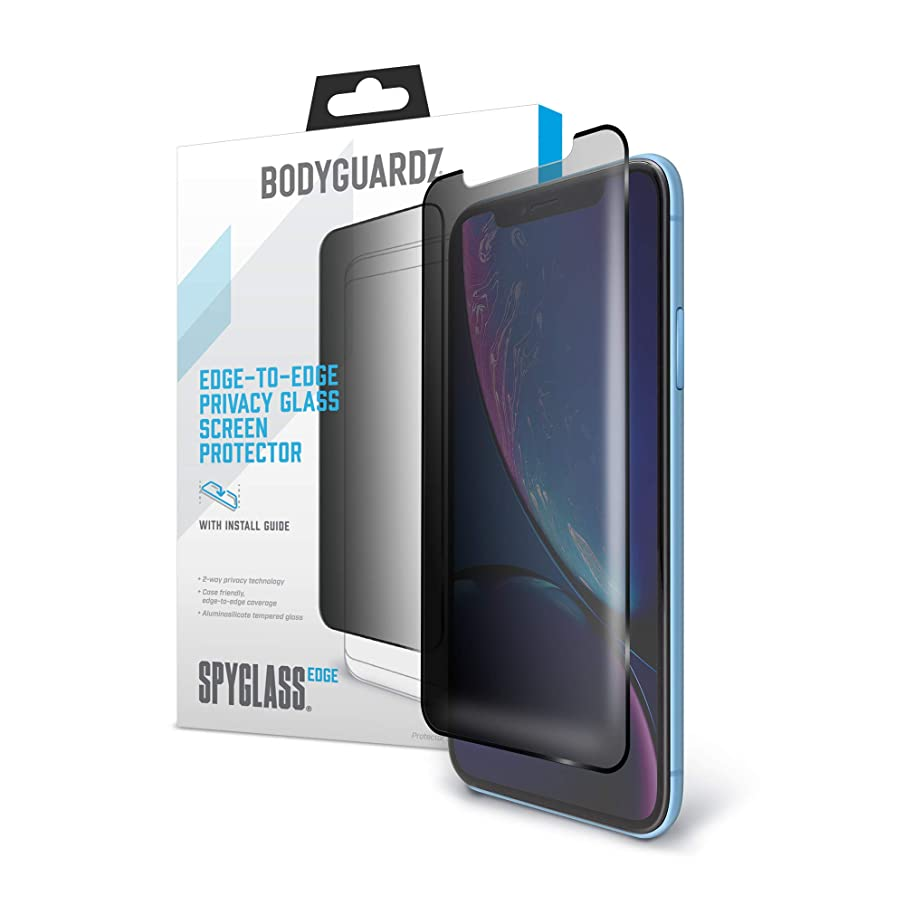 BodyGuardz - Spyglass Edge Privacy Screen Protector, Extreme Edge-to-Edge Impact and Scratch Protection for iPhone Xr
