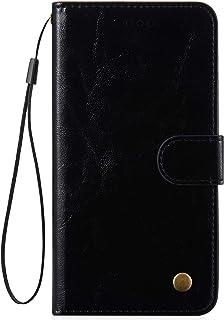 Kompatibel med Huawei P30 fodral väska premium PU-läder retro enfärgad plånbok läderfodral magnetisk flip fodral folio sta...