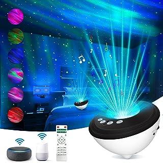پروژکتور نور شب Loycco Galaxy Star برای اتاق خواب ، پروژکتور نور Aurora سازگار با الکسا