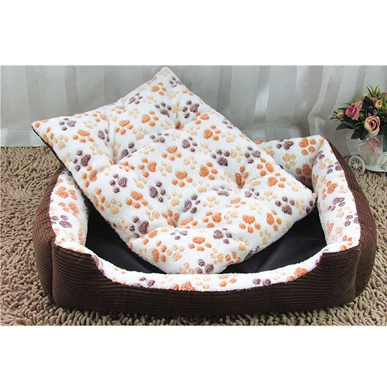 植物学予知成長する店舗 ペット用ベッド?マット 犬 猫 ドーム スクエア型 ふかふかハウス 柔らかい ぐっすり眠る クッション かわいい ベージュ